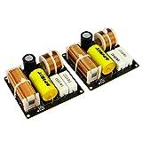 Wnuanjun 2pcs 80W 2 vías Cross Crossover Audio Altavoces de Escritorio Treble Bass Divisor para 4-8OHM 3-5'Ph Speaker 2.8KHZ