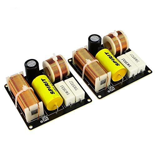 """Wnuanjun 2 stücke 80W 2 Wege Auto Crossover Audio Desktop Lautsprecher Höhenbassfrequenzteiler für 4-8Ohm 3-5\""""Zoll Lautsprecher 2.8khz"""