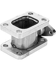 Adaptador de colector turbo, acero inoxidable T3-T3 Adaptador de colector turbo 38 mm Salida de brida Wastegate Proyecto Turbo Swap