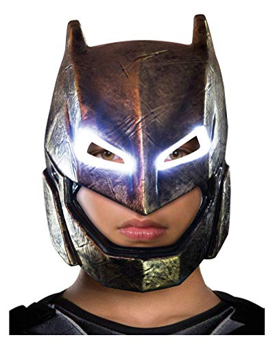 Horror-Shop Batman v Superman Armored Batman Kinder-Maske mit LED