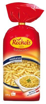 5x Recheis - Goldmarke Makkaroni - 500g