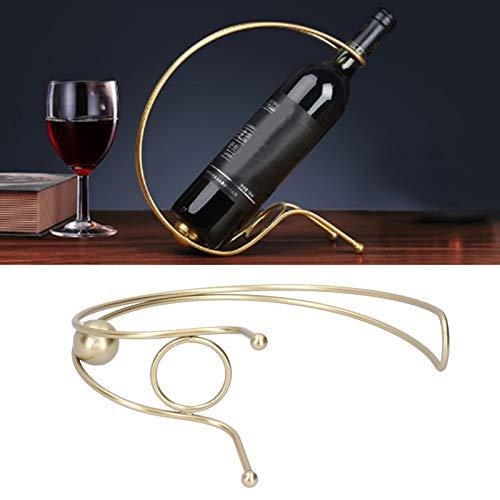 Gaeirt Porta Vino de Hierro, botellero Fuerte y Duradero Resistente a los arañazos para la decoración del hogar para Bares