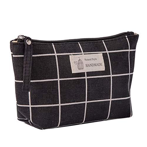 Impresión de lona patrón mujeres viaje bolsa de almacenamiento artículos de tocador organizar lindo cosmético bolso portátil maquillaje bolsas