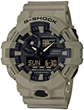 Casio Men's G SHOCK Quartz Watch with Resin Strap, Beige, 25.8 (Model: GA-700UC-5ACR)