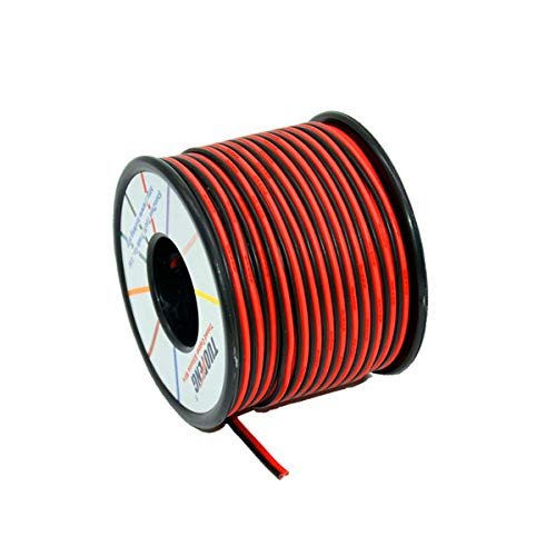 TUOFENG 20 AWG Cable eléctrico 60 metros [Negro 30 m Rojo 30...