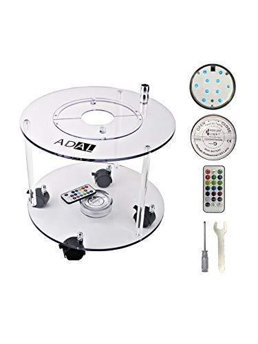 ADAL Premium Shisha Tisch | Komplett Set inkl. LED Untersetzer + Werkzeuge | Praktisch für Zuhause & Unterwegs | Acryl - Plexiglas - Transparent