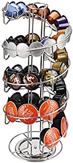 Rubik 360 Degree Rotating Coffee Capsules Holder - Spiral Coffee Pod Stand Tower Compatible with Nespresso/DOLCE GUSTO/K-C...
