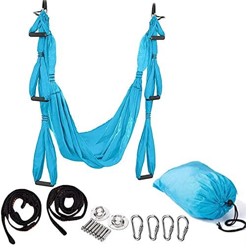 WXking Hamaca de yoga, columpio de yoga, hamaca aérea, hamaca antigravedad, yoga, yoga, ejercicios antigravedad, ejercicios de inversión, mayor flexibilidad y fuerza del núcleo, 6 (color 2)