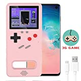 Dikkar Game Console Case for Galaxy, Retro Protective Cover Self-Powered Case,Full Color Display with 36 Small Game,Shockproof Video Game Case with USB Charging Cable for Samsung Galaxy S10