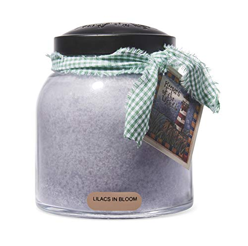A Cheerful Giver - Lilacs In Bloom Papa Scented Glass Jar Candle (34oz) with Lid & True to Life Fragrance Made in USA