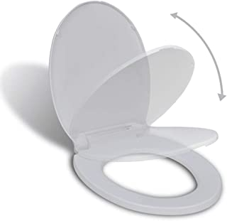 vidaXL Soft-close Toilet Seat White Oval Universal Fitting Bathroom Accessory