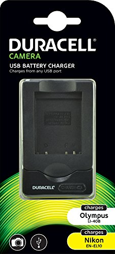 Duracell Ladegerät mit USB Kabel für DR9664/Olympus LI-40B Akku
