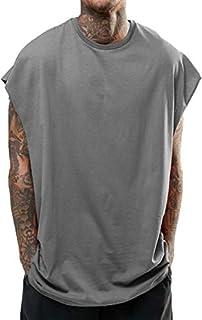 [パラッツィー」 メンズ tシャツ tシャツ ノースリーブ トップス ビッグシルエット ゆったり (ブラック・グレー)