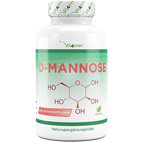 Vit4ever® D-Mannose - 180 Kapseln - 1500 mg pro Tagesportion (2 Kapseln) - Laborgeprüft - Hochdosiert & Natürlich - Vegan - Mannose - Premium Qualität