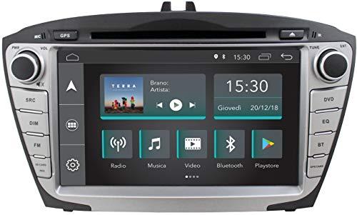 """Jfsound, Autoradio Custom Fit, Hyundai IX35, con Android 8.1 4Core, con Wi-Fi integrato, 2 Porte USB e Schermo da 7"""", Easyconnect"""