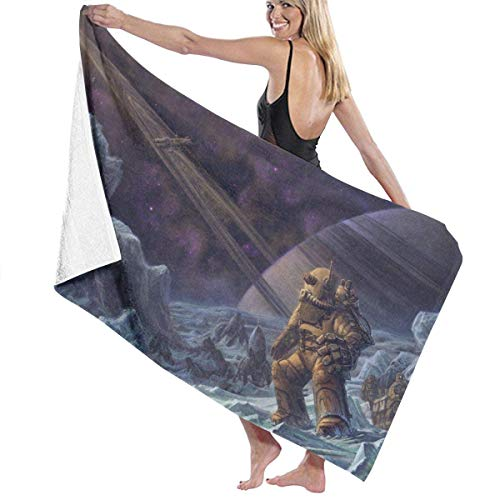 Gebrb Toallas de baño,Toalla de Playa,Manta de Playa High Absorbency Bath Towel Science Fiction Artwork Lightweight Large Bath Sheet 31 X 51 Inch for Beach Home SPA Pool Gym Travel