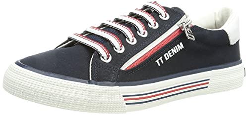TOM TAILOR Damen 1195301 Sneaker, Navy, 39 EU