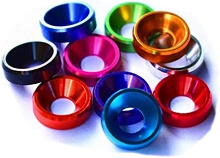 Lysee Washers - Some reservation 5Pcs M5 Aluminum Easy-to-use alloy Wear Count resistant Flat