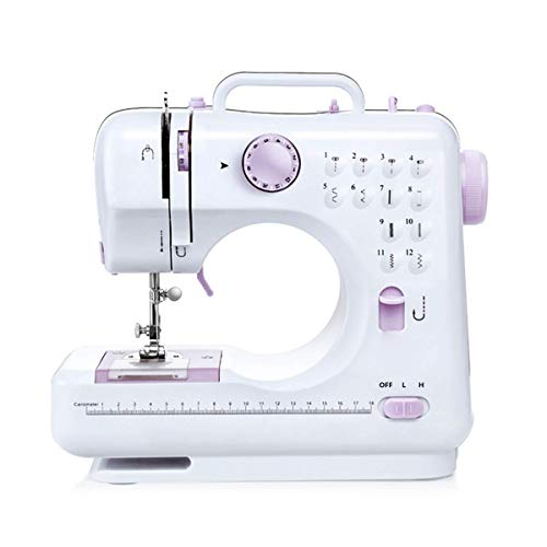 Topspring Household Beginner Sewing Machine Mini MultiFunction Sewing Machine with 2 Speeds12 Stitches for Fabric Clothing Children#039s Cloth Family Travel Use
