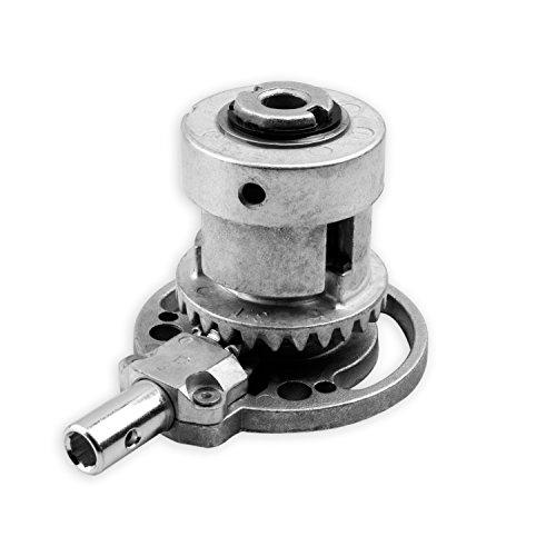 DIWARO® K086 Rolladengetriebe | Untersetzung 3:1 | für rechts & links | Antrieb 6mm Innensechskant | Kurbelgetriebe, Kegelradgetriebe für Ø 40 mm Nutrohr im Rolladenkasten