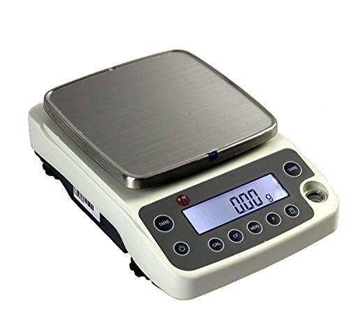 YLJJ 0.01g Balance de precisión electrónico Contador de Joyas/Báscula de pesaje de Alimentos Báscula de Cocina Digital RS232 Báscula Inteligente de Carga (4200g / 0.01g)