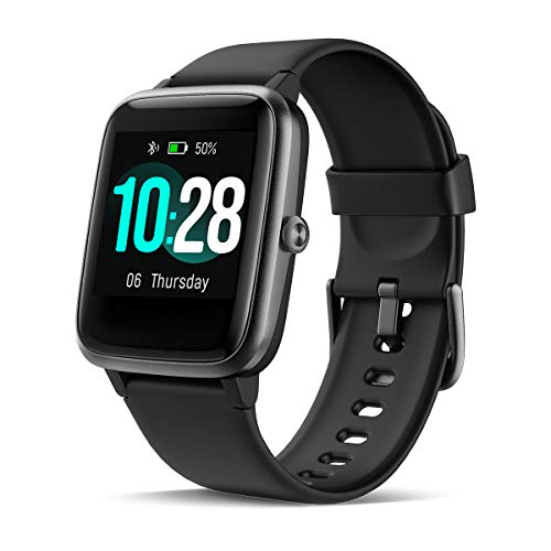 """CHEREEKI Smart Watch, Fitness Tracker IP68 Waterproof with 1.3"""" Touch Screen, Activity Tracker with Heart Rate Monitor SleepTracker, Smartwatch Compatible with Samsung iPhone for Men Women (Black)"""