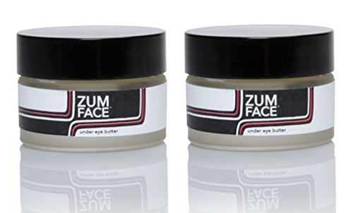 Zum Face Under Eye Butter (Pack of 2) with Organic Shea Butter, Macadamia Nut Oil, Evening Primrose Oil, Beeswax, Essential Oils and Vitamin E, 1 oz