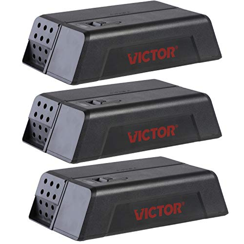 Victor M250SSR-3 Electronic Mouse Trap-3 Pack, Black