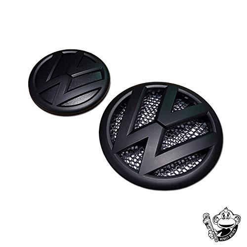 T5MATT SCHWARZ Badge Emblem vorne & hinten Abzeichen Set TDI