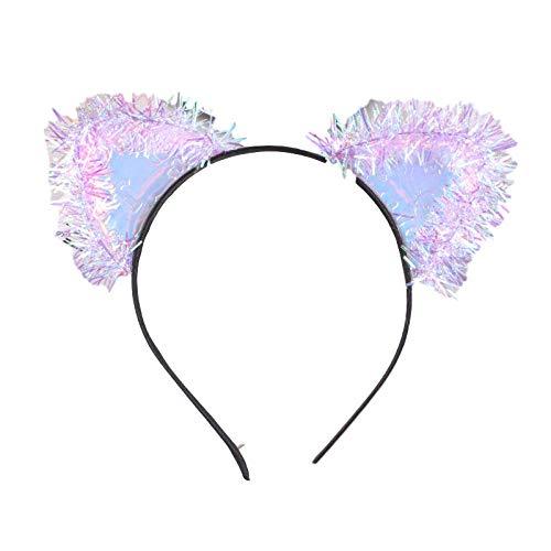 EuropäIscher Und Amerikanischer Laser Heller Seide Pu Katze Ohr Stirnband Niedliche MäDchen Mode Kopfbedeckung