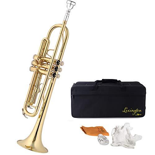 small Standard Lacquer Brass Lexington Bb Student Intermediate Trumpet Monel Piston Full …