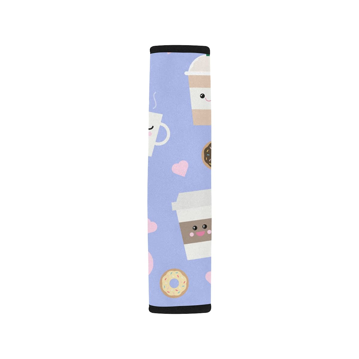 2pcs Car Seat Belt Cover Pattern Shoulder Coffee Elegant Sea Kawaii Cups Special price for a limited time
