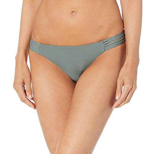 Seafolly Damen Active Multi Rouleau Brazilian Bikinihose, Grün (Olive Leaf Olive Leaf), 40 (Herstellergröße: 14)
