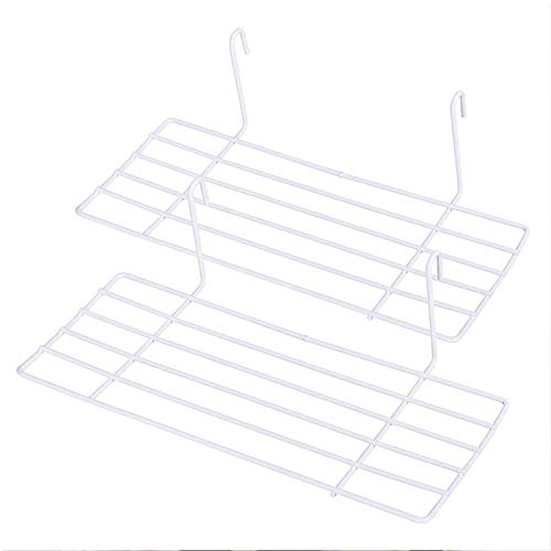 AceList 2 Set White Wall Shelf Rack for Grid Panel Wall Shelves Hanging Wire Organizer Storage Flower Pot Display Decor 9.8 inches x 3.9 inches