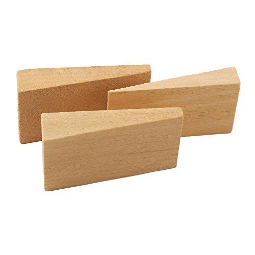 Holzkeile aus Hartholz Stärke 8 - 15 mm 5 x 3 cm 10 Stück