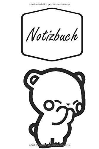 Notizbuch: Niedlicher Süßer Bär gibt ein Küsschen | Bären Freunde | geeignet als Tagebuch, Notizheft, Skizzenbuch und Schulheft | für Kinder: Mädchen ... | liniertes Papier | Soft Cover | 100 Seiten)