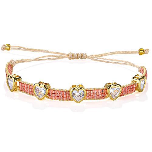 KELITCH Neue Boho Perlen Gewachste Schnur Wrap Armband Handgemachte Top Freundschaft Armband Für Frauen
