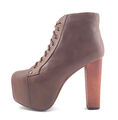 Jeffrey Campbell Lita Shoes with Platform High Heel - Calf Brown