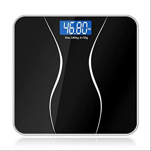 YQLHJ Escala electrónica Monitor LCD para el hogar Peso del baño Escala electrónica Inteligente Adulto Digital Pérdida de Peso precisa Llamado Vidrio Templado 379 Libras Báscula de Cocina básc
