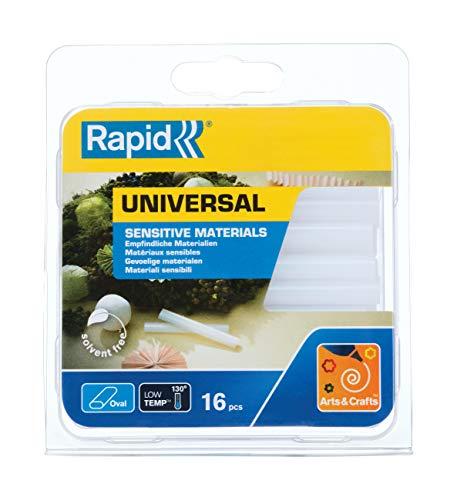 Rapid 40107349 Niedertemperatur Klebesticks universal transparent oval Ø9x94mm 125g, 125 g