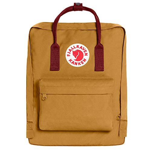 Fjallraven - Kanken Classic Backpack for Everyday, Acorn/Ox Red