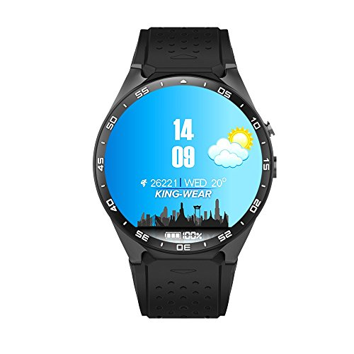 lolittas kw88Android 5.1Quad Core 4GB Bluetooth Smart Watch GPS WiFi para iOS