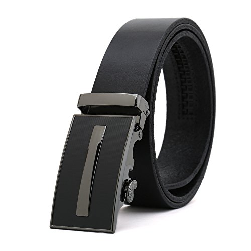 Weinida Men Business Casual Dress Clothing Leather Belt Belts 35mm for Waist 80cm-100cm