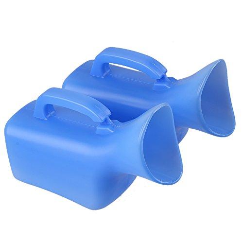 Sevender Tragbare Urinflasche für Damen, für Auto, Reisen, Camping, Ausflug, Boot, 2 Stück