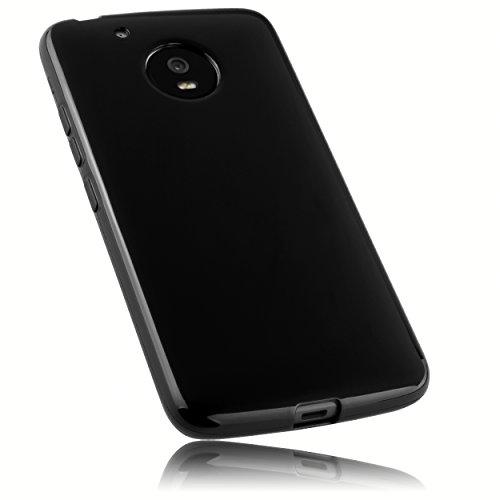 mumbi Hülle kompatibel mit Lenovo Moto G5 Handy Hülle Handyhülle, schwarz