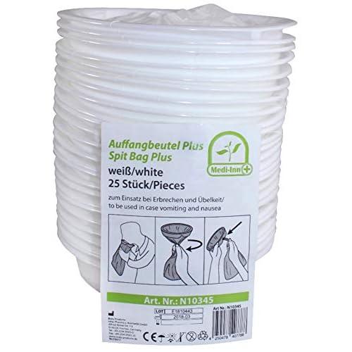 25 Pezzi Sacchetto vomito con Bocchino Medi-INN Sacchetti-vomito sacchetti-vomito Sacchetto dei rifiuti