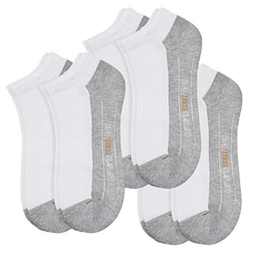 Camano Unisex Classic Sport Sneaker 6er Pack, Größe:43-46, Farbe:White (001)