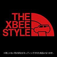 クロスビー ステッカー THE XBEE STYLE【カッティングシート】パロディ シール(12色から選べます) (赤)
