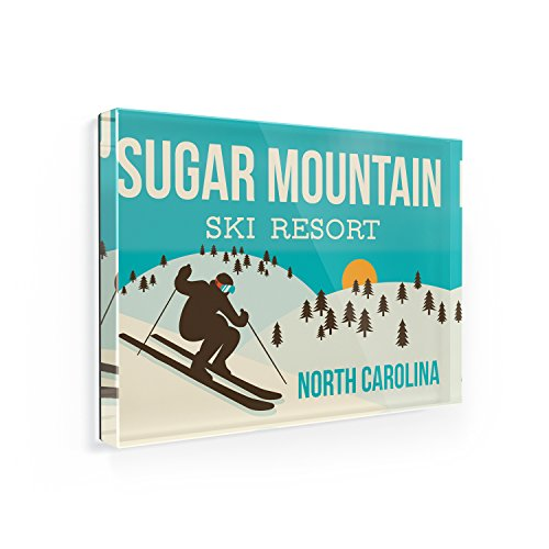 Fridge Magnet Sugar Mountain Ski Resort - North Carolina Ski Resort - NEONBLOND
