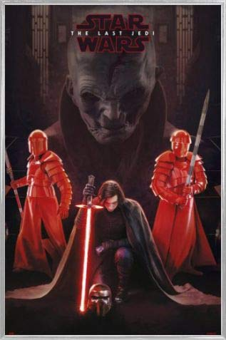 1art1 Star Wars Póster con Marco (Plástico) - Episodio VIII Los Últimos Jedi, Líder Supremo Snoke Y Kylo REN (91 x 61cm)